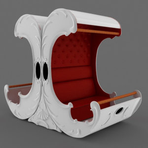 3d model of carousel sofa