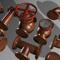 Pipe and valve set