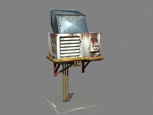 industrial vent box games 3d max