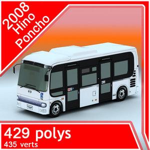 3d 2008 hino poncho bus