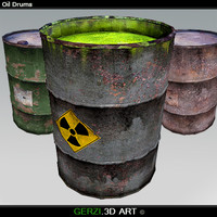 3d model oil drums