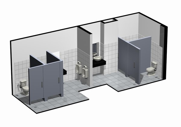 3dsmax water closet