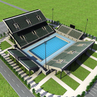 outdoor olympic swimming pool obj