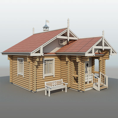 country-house a-028-1d 3d model