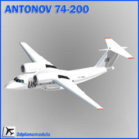 antonov aircraft united nations 3d model