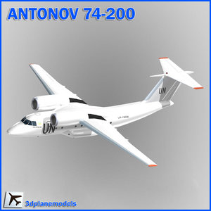 antonov aircraft united nations 3d model