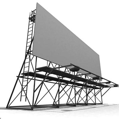 maya billboard large display