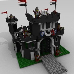3ds max knights lego black s