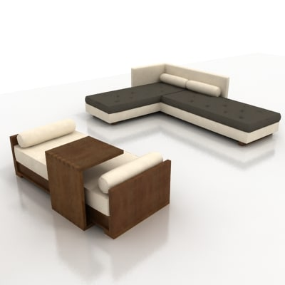 day bed l-sofa 3ds