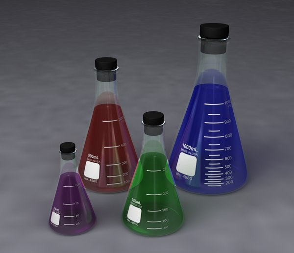 erlenmeyer flasks - 100ml 3d model