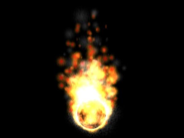 particle burn 3d model