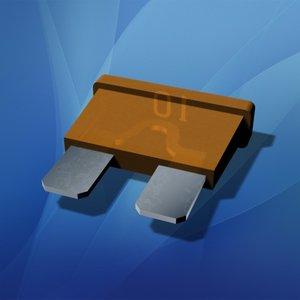 3d plug-in blade fuse model