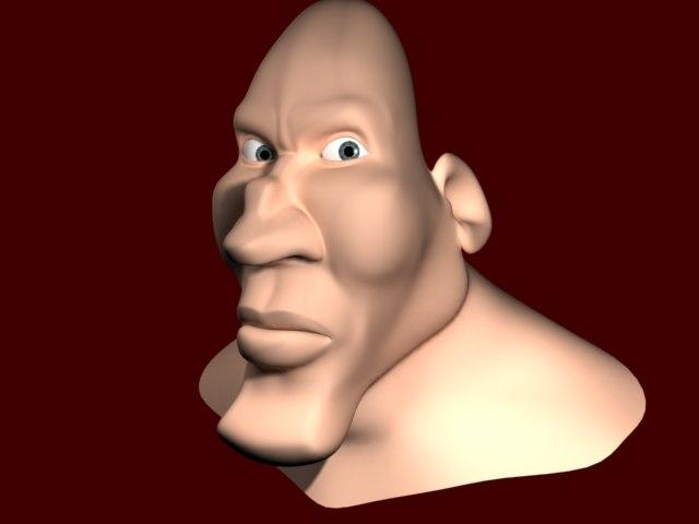 3d head toon