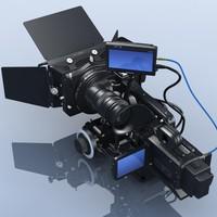 jvc gy-hd110u hdv camcorder 3d model