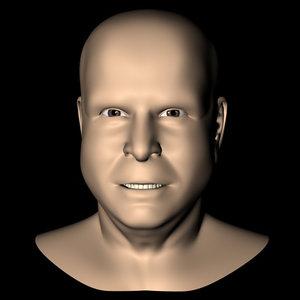republican john mccain head 3d model