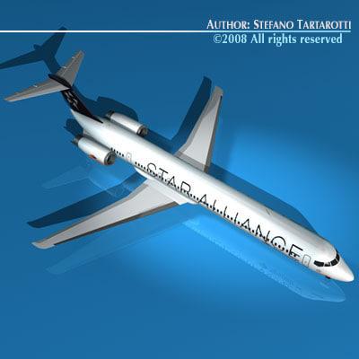 md82 spanair plane 3d c4d