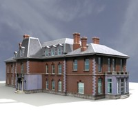 georgian mansion 3d model