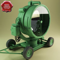 3d model of military searchlight