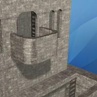 lightwave miniature castle stone
