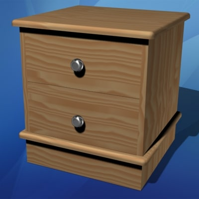 3d nightstand furniture bedroom