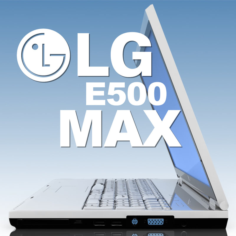 notebook lg e500 laptop 3d model