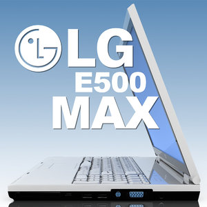 notebook lg e500 laptop 3d model