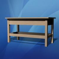 piano bench 3d max