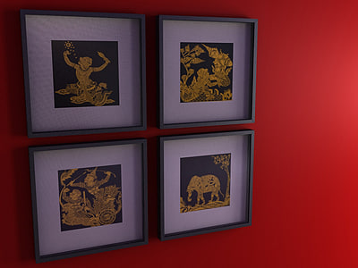3d Ribba Picture Frame Asian Model