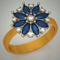 3d 8 gold jewels model