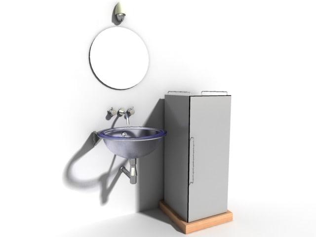 bathroom sink set 3d model