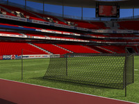 3d soccer stadium field model