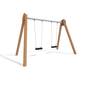 3ds max wooden swing