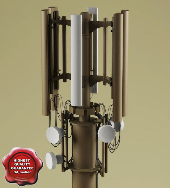 3ds max telecommunication tower v4