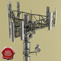 3d telecommunication tower v5 model