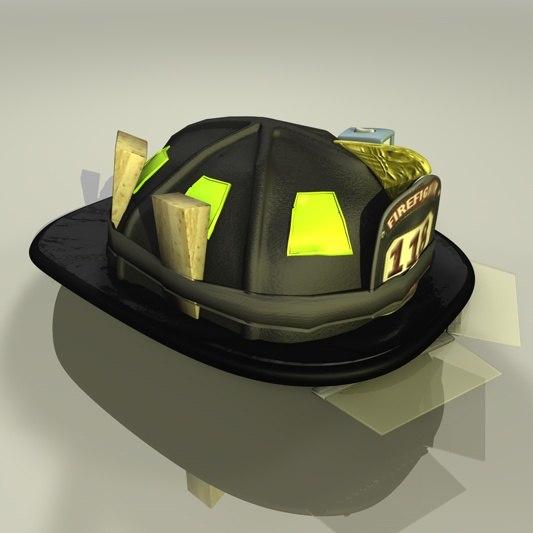 3d model helmet firefighter