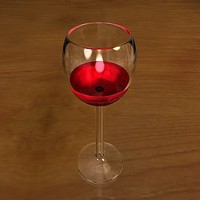 3d 3ds strong wine glass