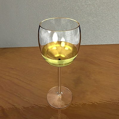 3ds max white wine glass