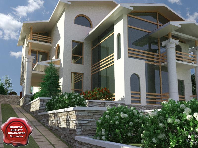 3d villa v12 model