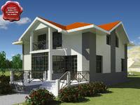 3d model of villa v9