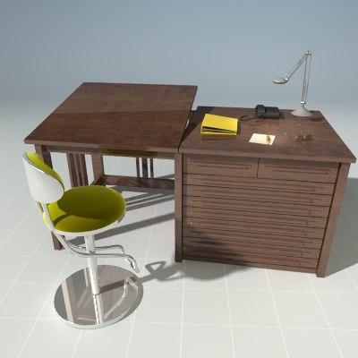 modern office desk chair 3ds