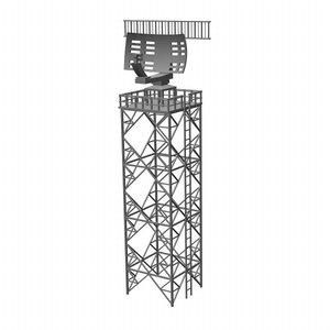 3d airport radar model
