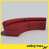 arched sofa 3d max
