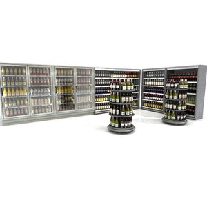 3d model wine shelves