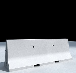 3ds max concrete jersey barrier