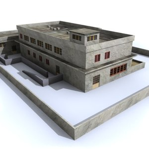 police abandoned industrial 3d model