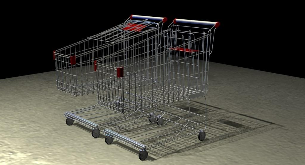 shopping cart 3d model