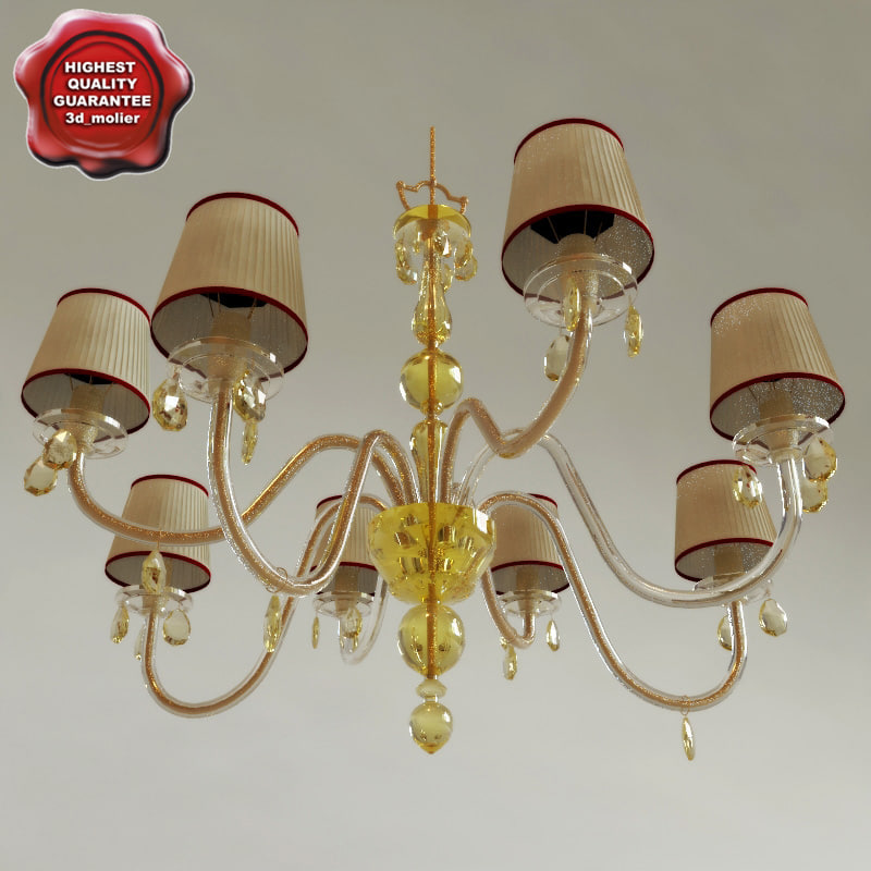 3d chandelier classic interior