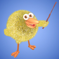 3d baby chicken character