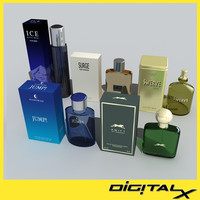 cologne bottles 3d model