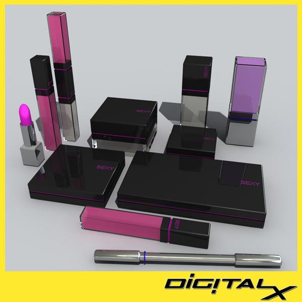 cosmetic set 8 3d max